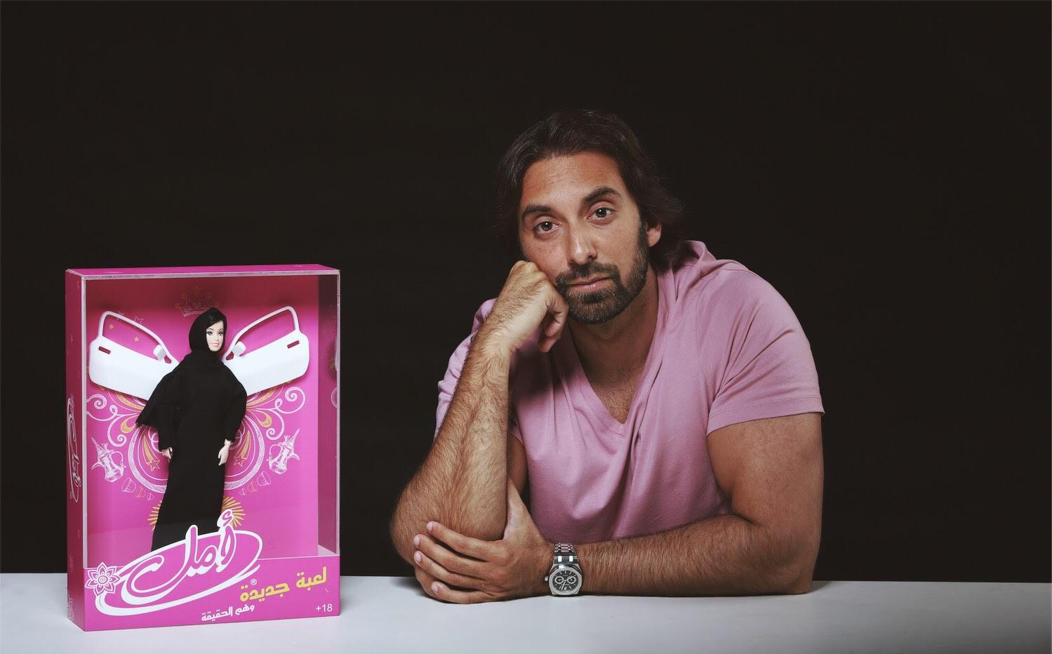 Sheikhs on Trampolines & Barbies in Abayas: Saudi Artist Khalid Zahid's Message