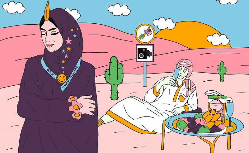 Edgy Saudi Artist Depicting the Arab Millennial Experience Collaborates with '90s Favourite G-shock