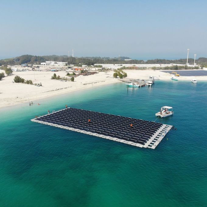 This Tiny Island is now Home to the UAE's First Floating Solar Power Plant